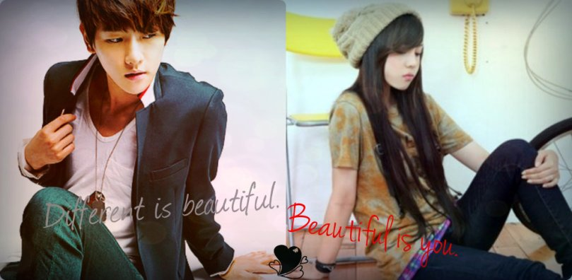 Different is beautiful. Beautiful is you. (cover)